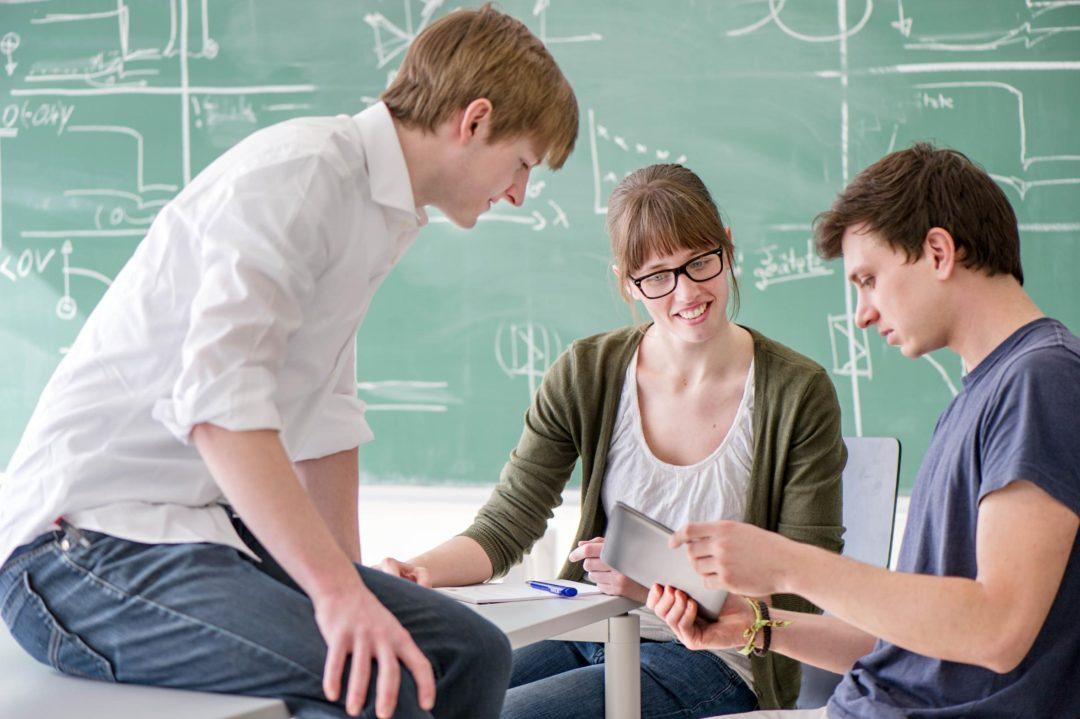 Lernen in Gruppen, Lernen mit digitalen Medien. Copyright: Eckert/Heddergott, TU München
